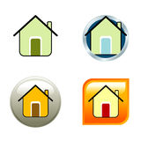 House Icons. 4 different house icon for internet use