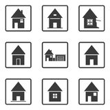 House icons. Royalty Free Stock Image