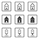 House icons. Royalty Free Stock Photos