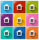 House icons Royalty Free Stock Photo