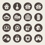 House icons. Real estate Royalty Free Stock Photography
