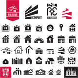 House icons. Real estate. Stock Images
