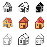House icons set. Nice house icons vector set royalty free illustration