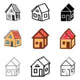 House icons set Stock Photos