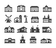 House icons set. collection elements hotel, real Royalty Free Stock Image