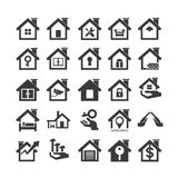 House icons. Set of 25 house and construction icons Royalty Free Stock Image
