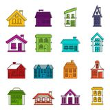 House icons doodle set Royalty Free Stock Photos