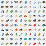 100 house icons set, isometric 3d style. 100 house icons set in isometric 3d style for any design vector illustration Stock Photos