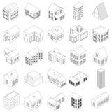 House icons set, isometric 3d style Stock Image