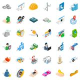 House icons set, isometric style. House icons set. Isometric style of 36 house vector icons for web isolated on white background Stock Photos