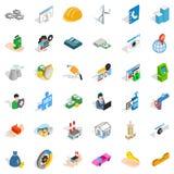 House icons set, isometric style Stock Photos