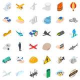 House icons set, isometric style. House icons set. Isometric style of 36 house vector icons for web isolated on white background Stock Photography