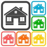 House Icons set with a long shadow Royalty Free Stock Photo