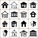 House Icons Set Royalty Free Stock Photography