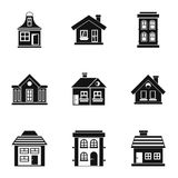 House icons set, simple style Stock Image