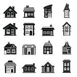 House icons set, simple style Stock Photography