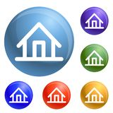 House icons set vector royalty free illustration