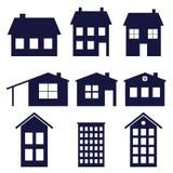 House icons Royalty Free Stock Photo