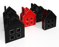 House Icons Show Houses For Sale Stock Photos