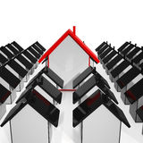 House Icons Showing Selling Real Estate Royalty Free Stock Photography