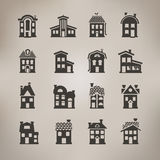 House icons. Vector format. Author's illustration in Royalty Free Stock Image