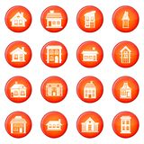 House icons vector set Royalty Free Stock Photo
