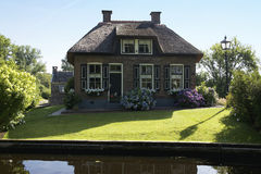 House in idyllic Giethoorn Royalty Free Stock Images