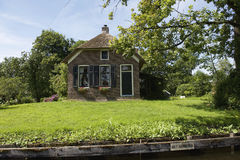 House in the idyllic village Dwarsgracht Stock Images