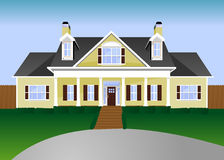 House Illustration stock image