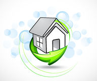 House illustration with arrows Stock Images
