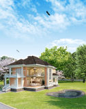 House. Illustration of a country house in the context of Royalty Free Stock Photo