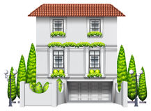 House. Illustration of an elegance house with garden Stock Photo