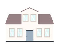 House  illustration. Home exterior set in flat style. House modern and traditional. Royalty Free Stock Photos