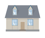House  illustration. Home exterior set in flat style. House modern and traditional. Royalty Free Stock Photography