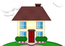 house illustrationen arkivfoto