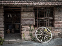 House of immigrants. Home of Italian immigrants on arrival in Brazil for more than 400 years ago - Village tourist thematic in the city of Canela - Brazil Stock Photo
