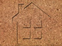 House Imprints. On natural products Royalty Free Stock Photography