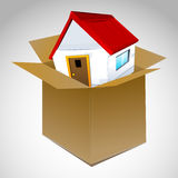 House In Box Royalty Free Stock Photography