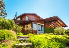 House In Chile Stock Photography