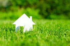 Free House In Green Field Stock Photography - 27181332