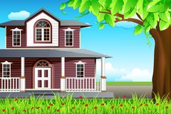 House In Nature Royalty Free Stock Images