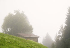 House In The Fog Royalty Free Stock Photography