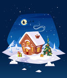 House In The Forest . Christmas Card, Poster Or