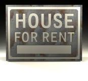 house info-hyratecknet Royaltyfri Bild