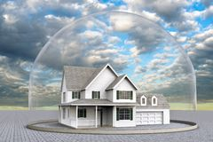 A house inside a dome vector illustration