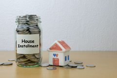 House installment Royalty Free Stock Images
