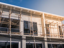 The house installs bamboo scaffold for construction Stock Photography
