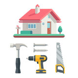 House and instrument, building illustration Royalty Free Stock Photography