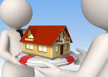 House insurance - 3d business people Royalty Free Stock Photography