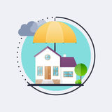House insurance business service icons template. Vector illustra. Tion concept of insurance Stock Photos